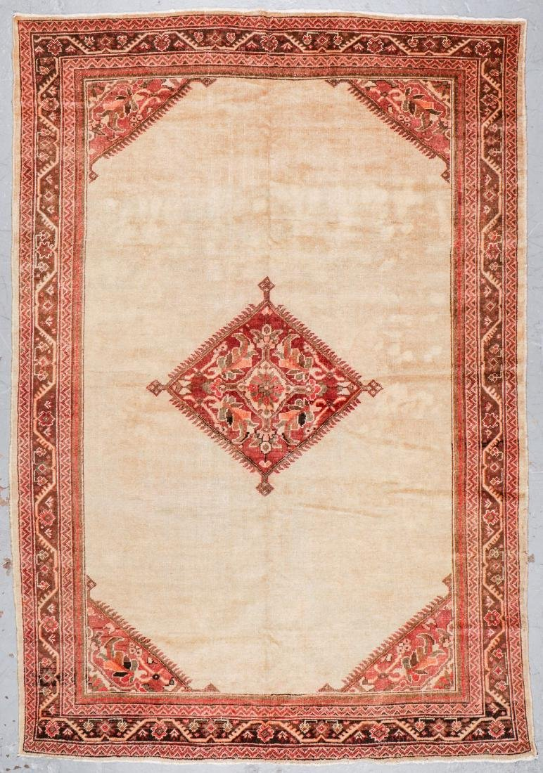 Antique Mahal Rug: 7'1'' x 10'5''