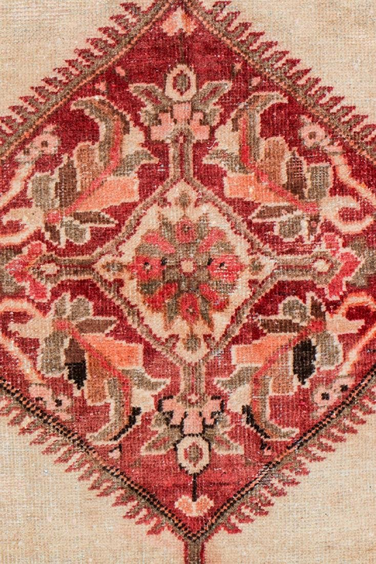 Antique Mahal Rug: 7'1'' x 10'5'' - 3