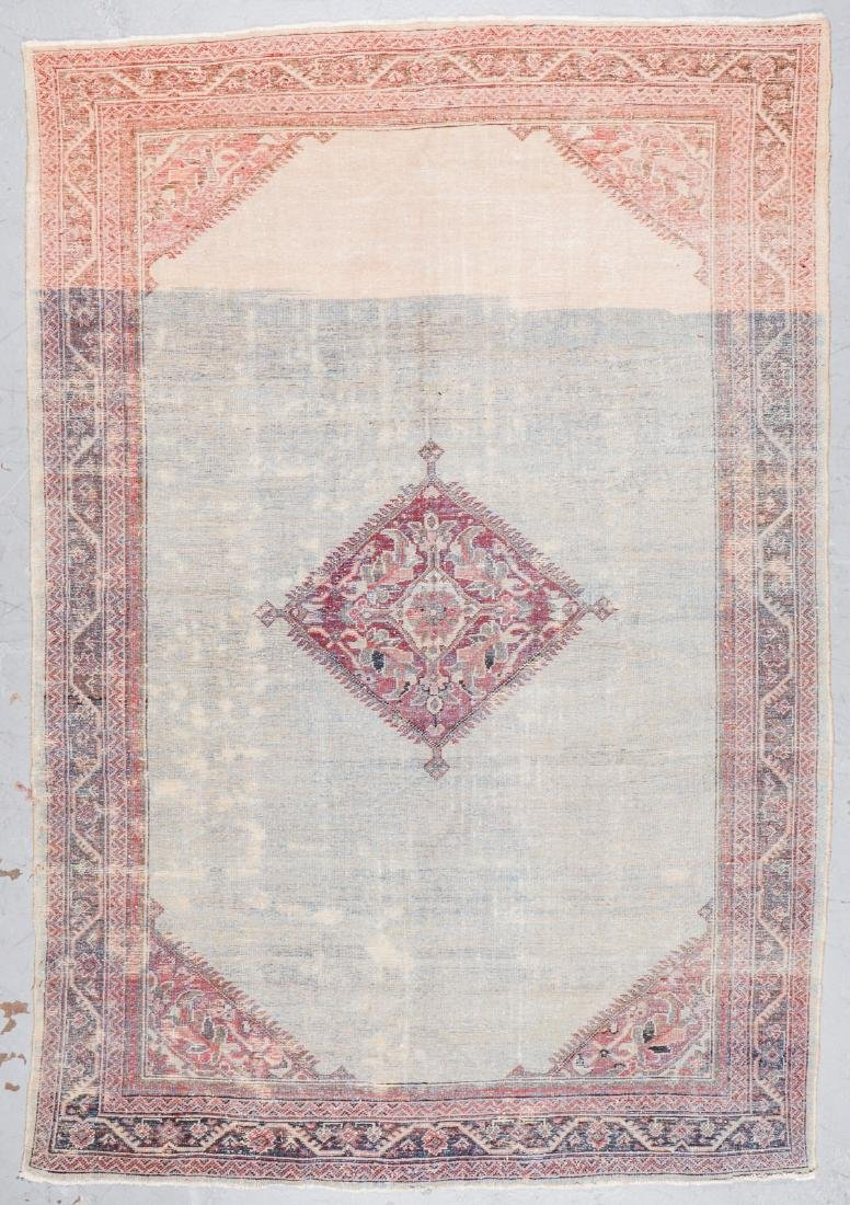 Antique Mahal Rug: 7'1'' x 10'5'' - 7