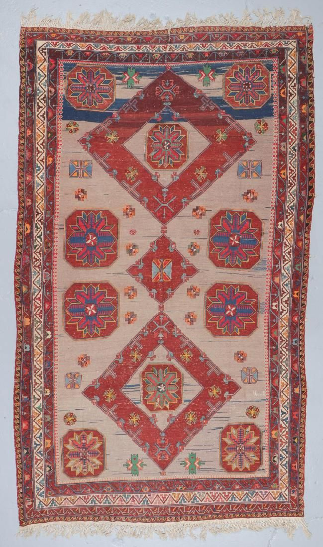 Antique Sumak Rug: 6'8'' x 11'2''