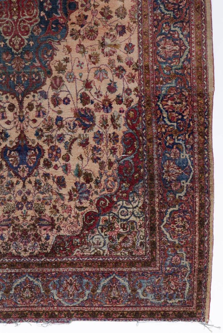 Antique Silk Kashan Rug, Persia: 4'1'' x 6'7'' - 2