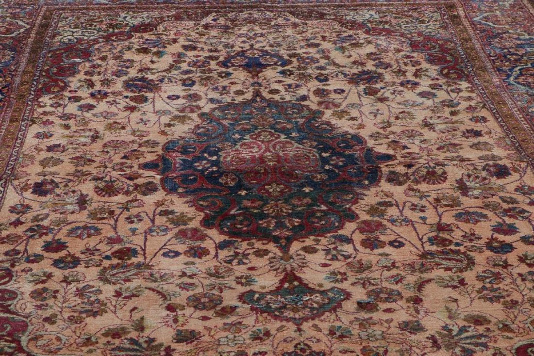 Antique Silk Kashan Rug, Persia: 4'1'' x 6'7'' - 6