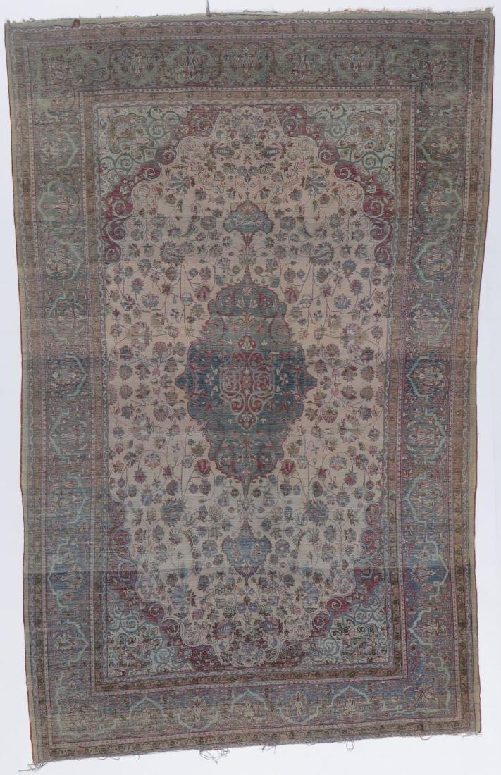 Antique Silk Kashan Rug, Persia: 4'1'' x 6'7'' - 7