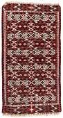 Antique Yomud Turkmen Kilim: 3'4'' x 6'5''