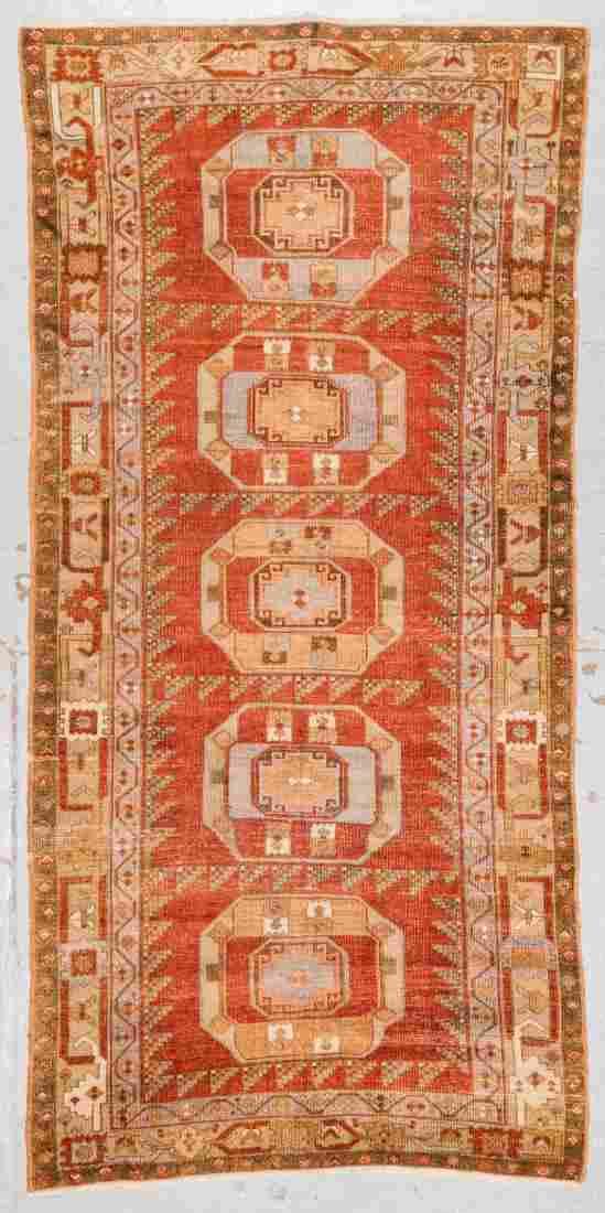 Antique Turkish Village Rug: 4'6'' x 9'5''