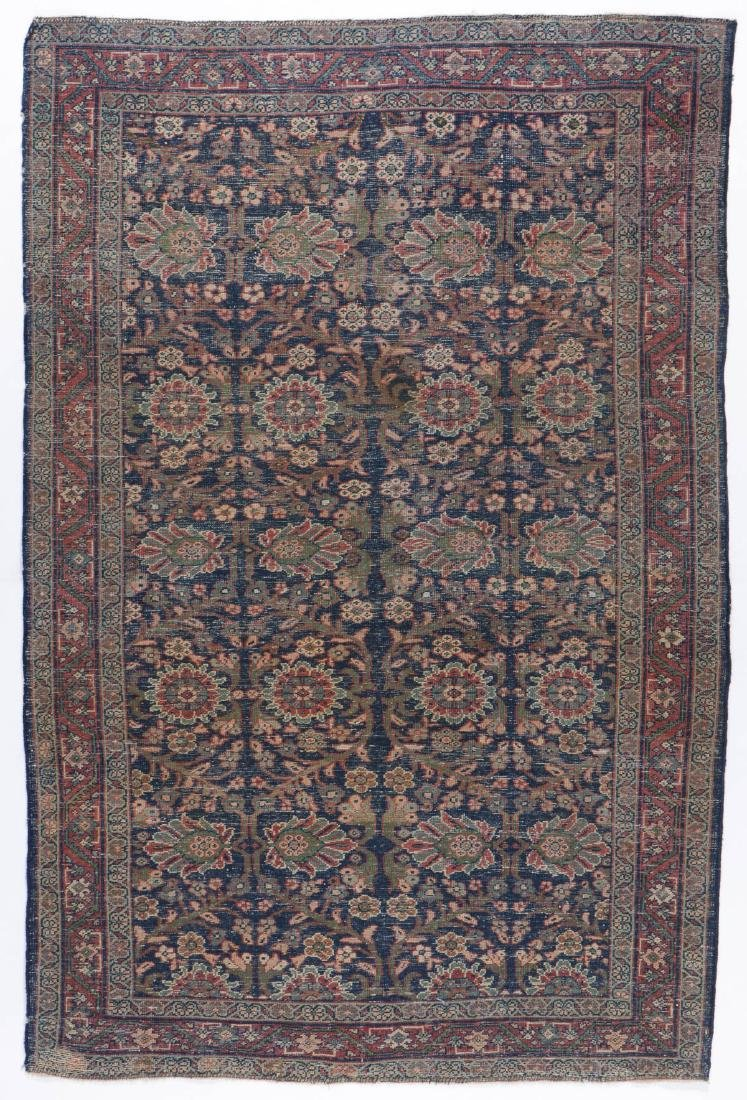 Antique Mahal Rug: 4'3'' x 6'5'' - 7
