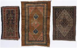3 Small Antique Persian Rugs