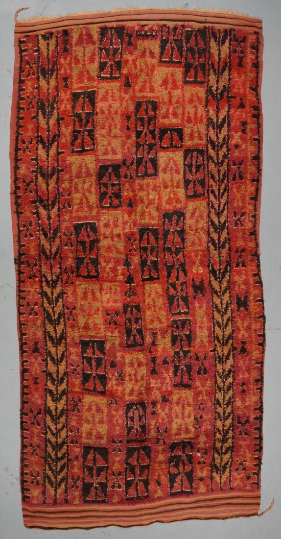 Vintage Moroccan Rug: 6'0'' x 14'0''