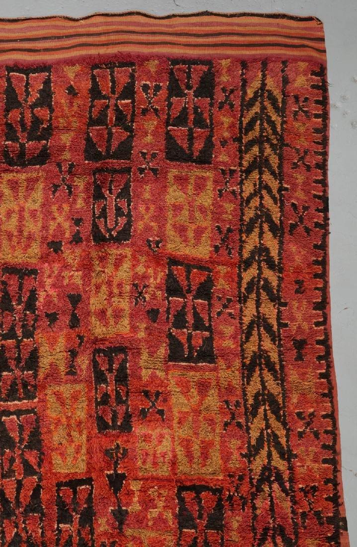 Vintage Moroccan Rug: 6'0'' x 14'0'' - 2