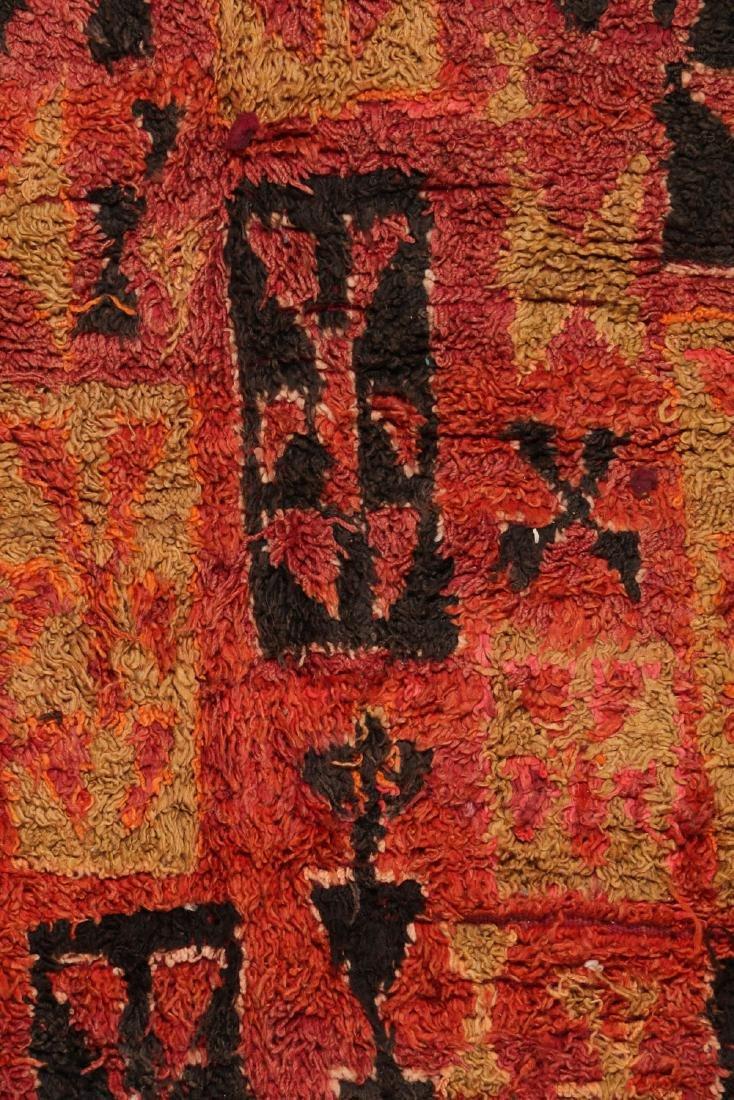 Vintage Moroccan Rug: 6'0'' x 14'0'' - 3