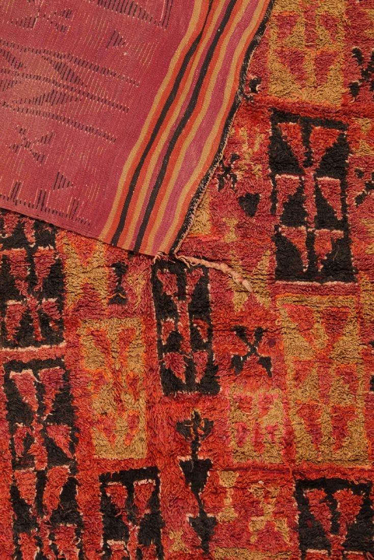 Vintage Moroccan Rug: 6'0'' x 14'0'' - 4