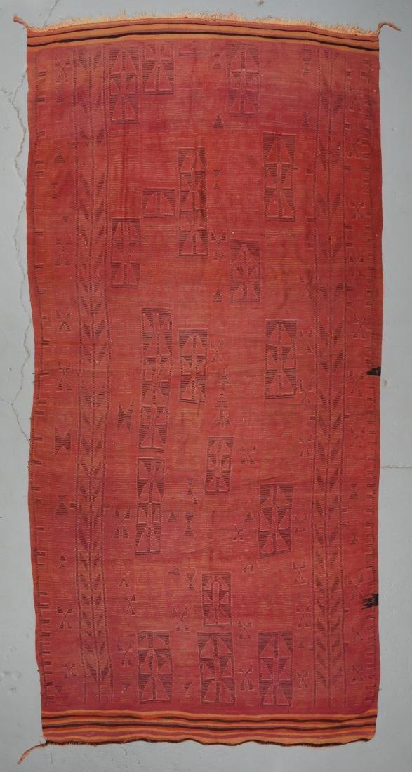 Vintage Moroccan Rug: 6'0'' x 14'0'' - 7