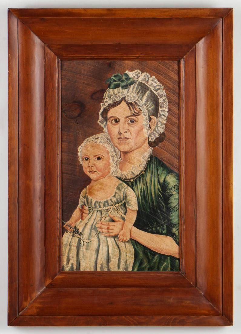 19th C. Mourning Painting - 2