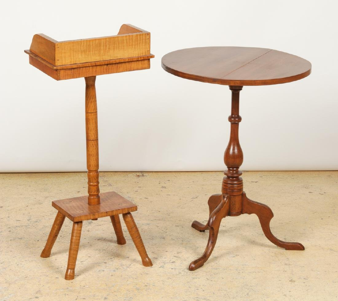 Antique Dropleaf Table, Reading Stand & Candle Stand - 3