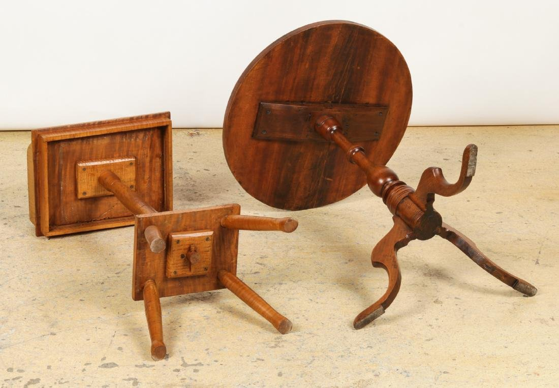 Antique Dropleaf Table, Reading Stand & Candle Stand - 5