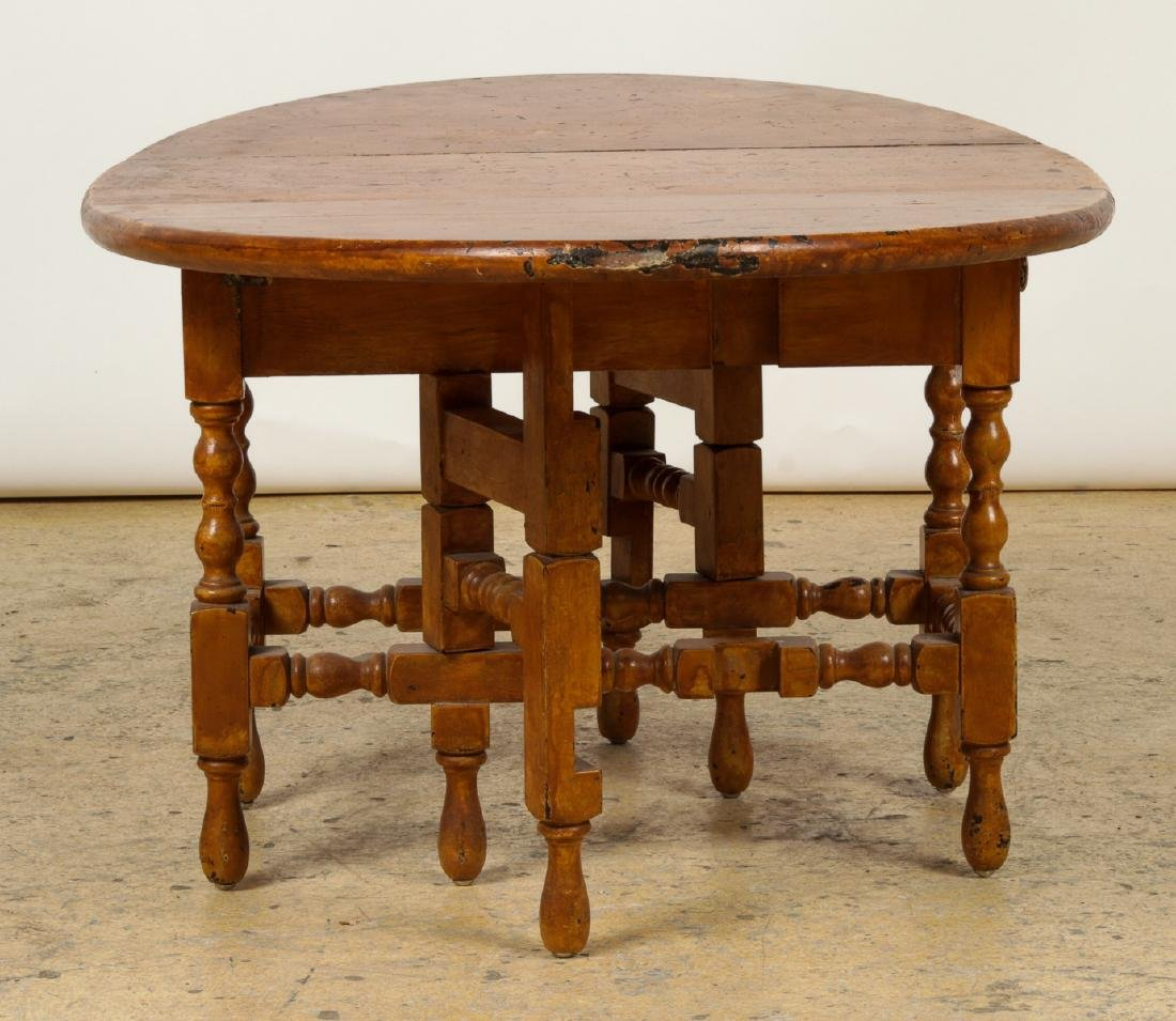 Antique Dropleaf Table, Reading Stand & Candle Stand - 6