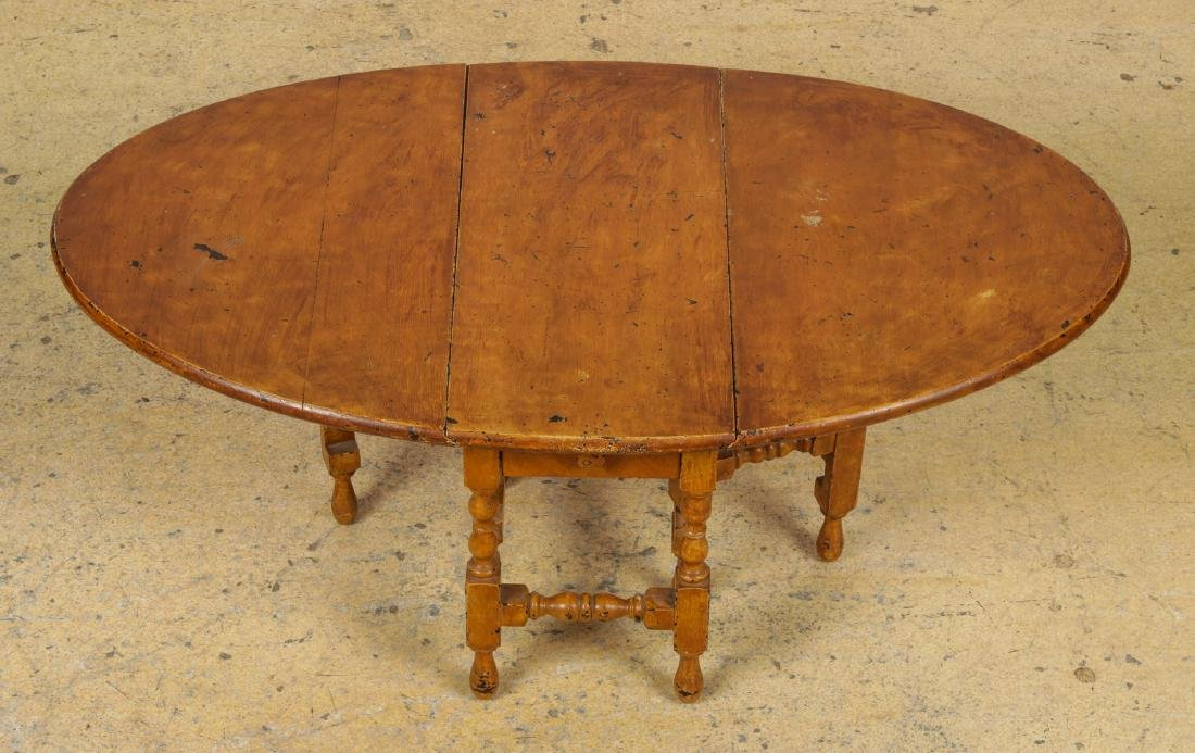 Antique Dropleaf Table, Reading Stand & Candle Stand - 7