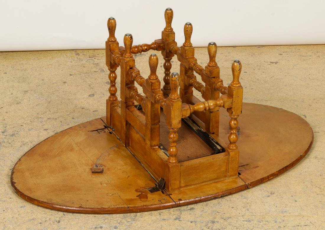 Antique Dropleaf Table, Reading Stand & Candle Stand - 9