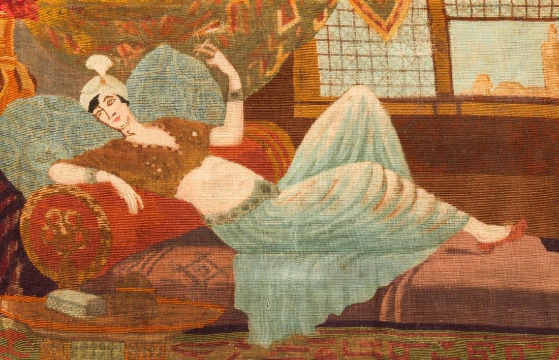 Framed Orientalist Tapestry, Late 19th/Early 20th C - 2