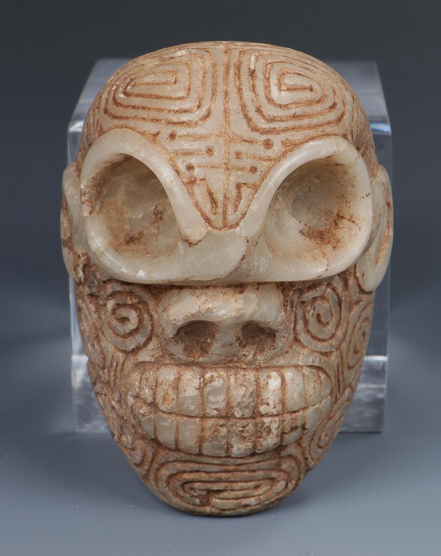 Taino Skull-Like Marble Cemi Stamp (1000-1500 CE)