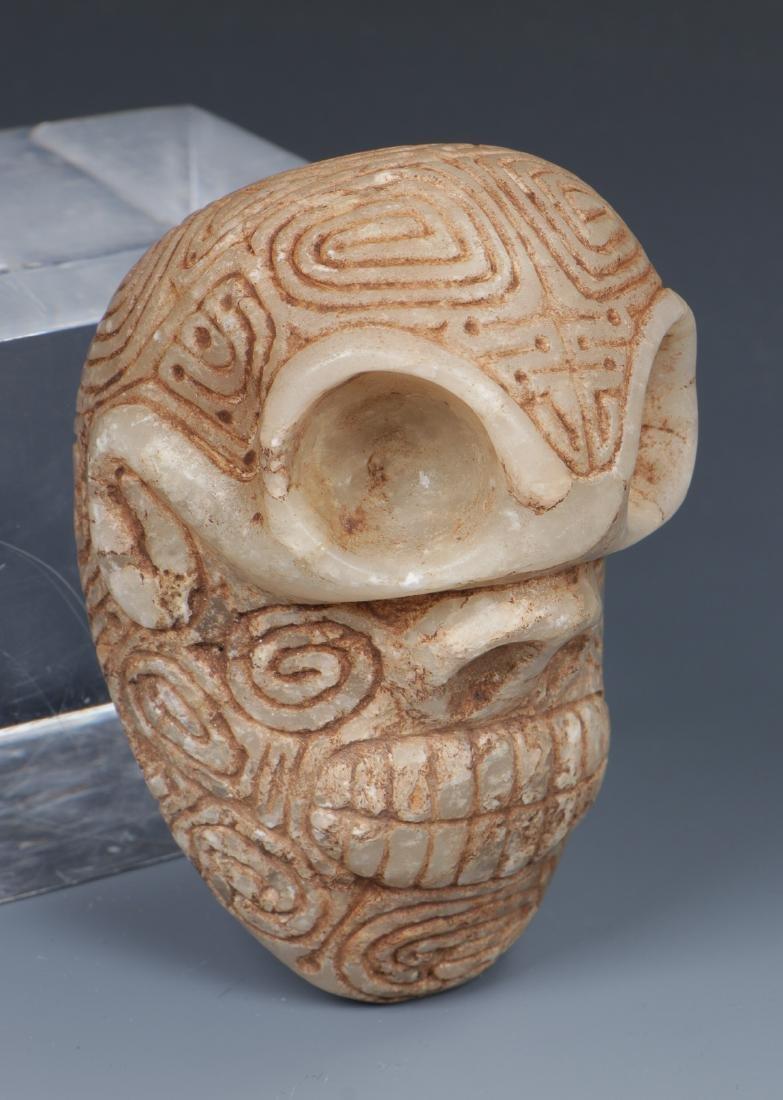 Taino Skull-Like Marble Cemi Stamp (1000-1500 CE) - 2