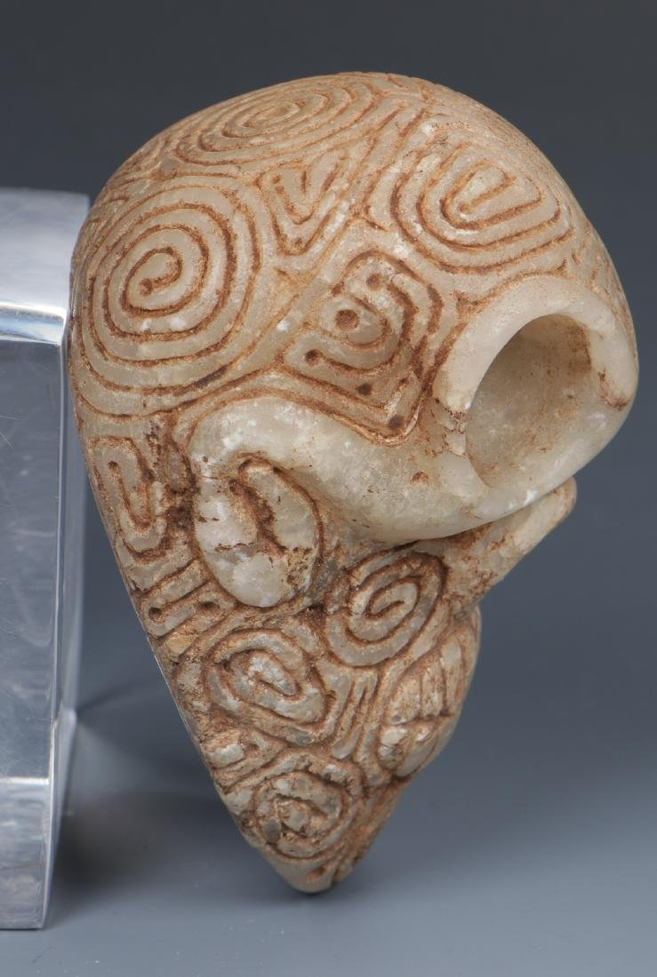 Taino Skull-Like Marble Cemi Stamp (1000-1500 CE) - 3