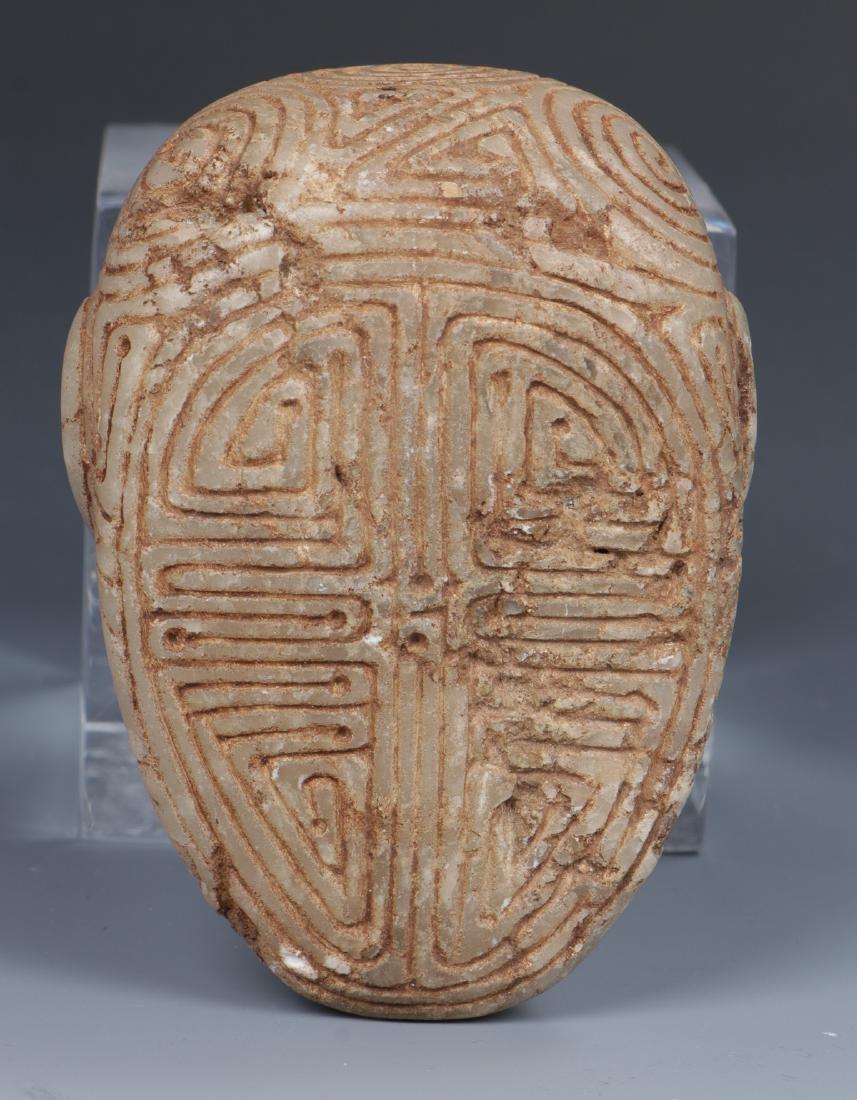 Taino Skull-Like Marble Cemi Stamp (1000-1500 CE) - 4