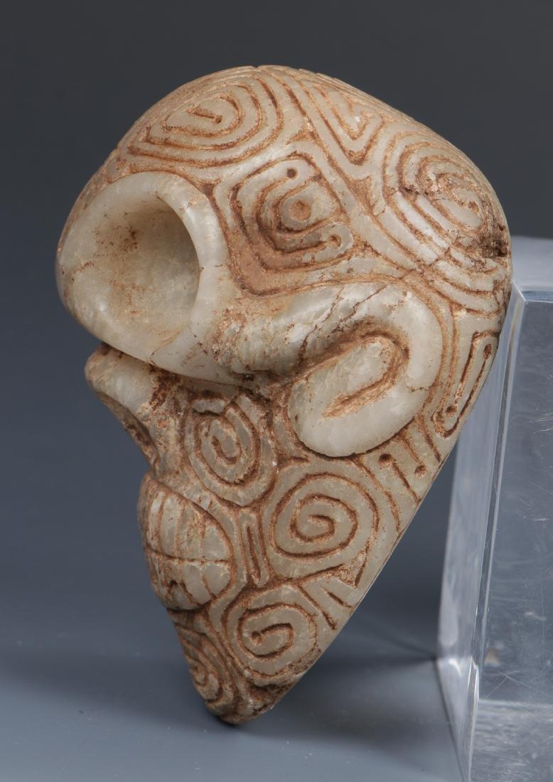 Taino Skull-Like Marble Cemi Stamp (1000-1500 CE) - 5
