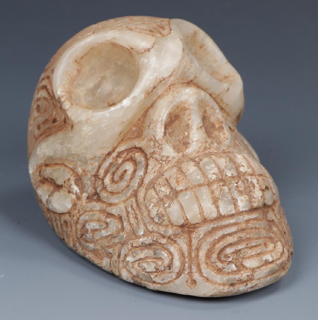 Taino Skull-Like Marble Cemi Stamp (1000-1500 CE) - 7