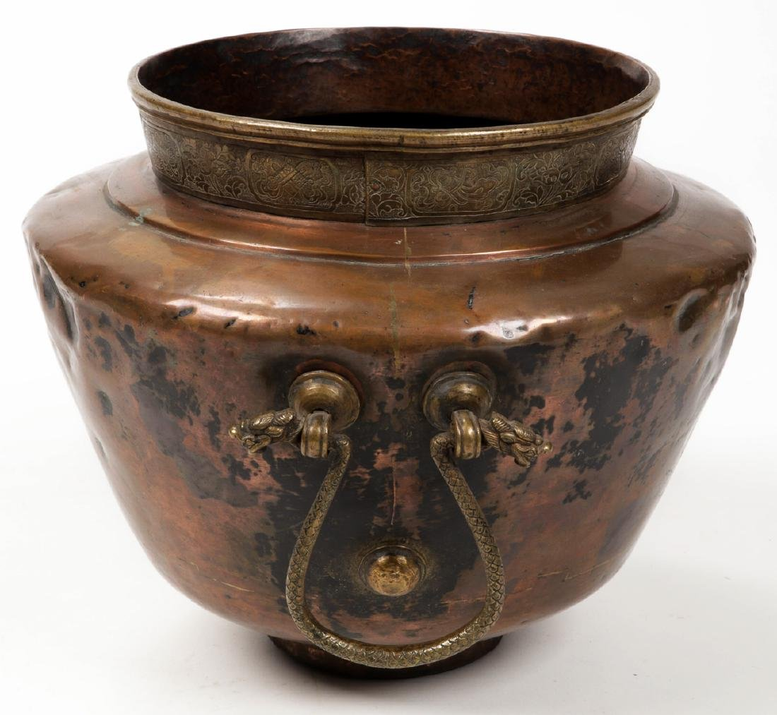 Antique Central Asian/Middle Eastern Copper Pot w. - 3