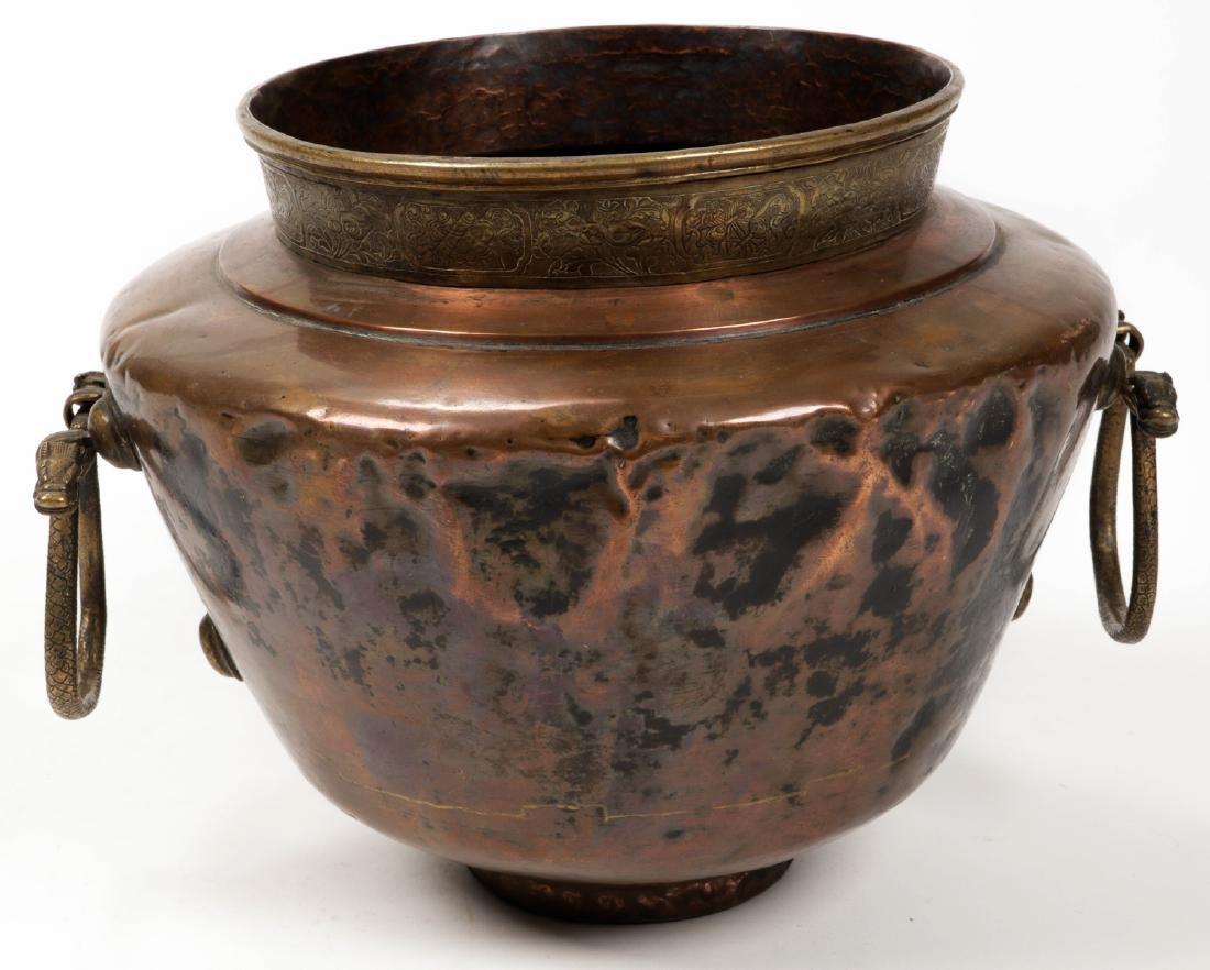 Antique Central Asian/Middle Eastern Copper Pot w. - 4