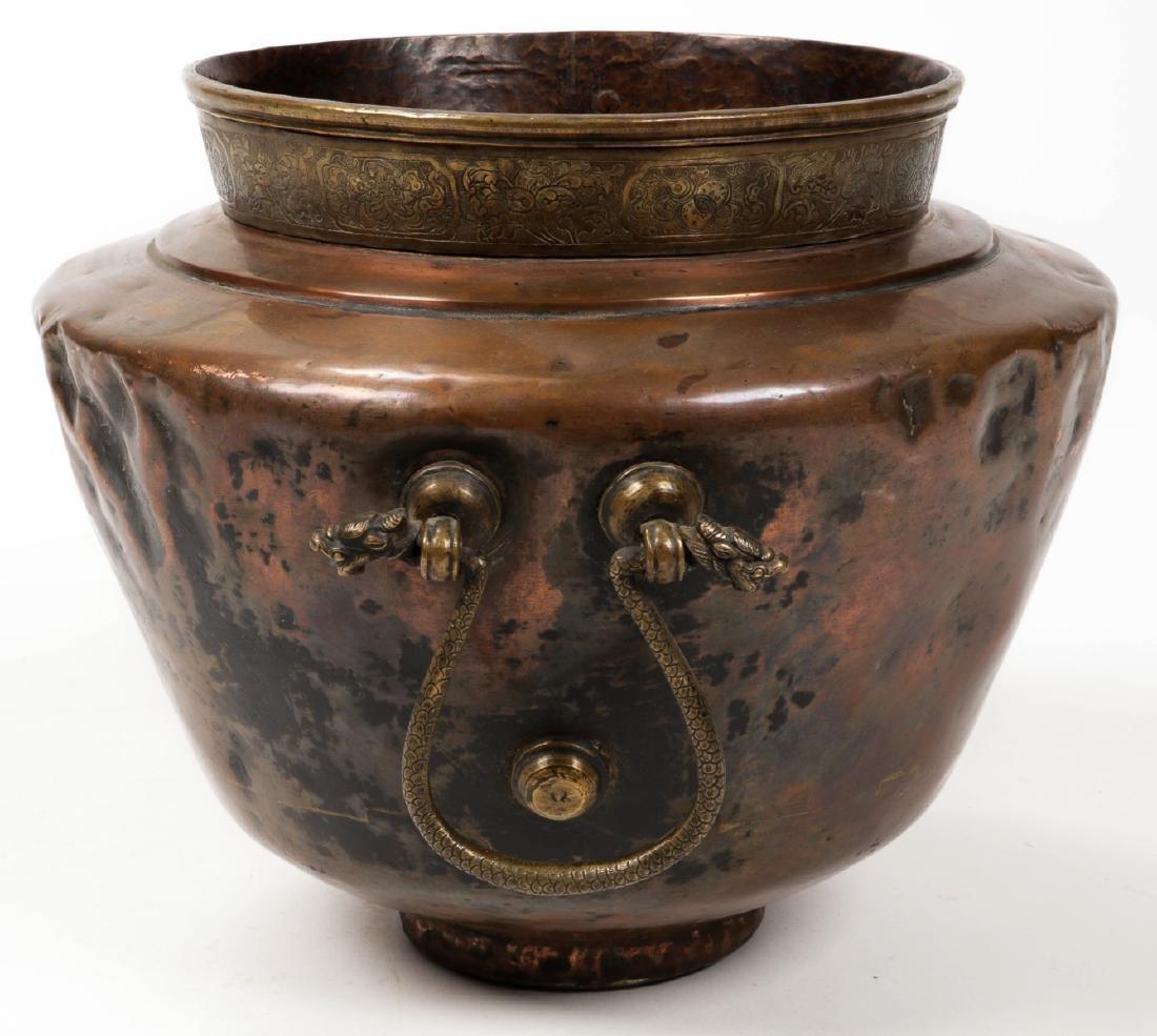 Antique Central Asian/Middle Eastern Copper Pot w. - 5