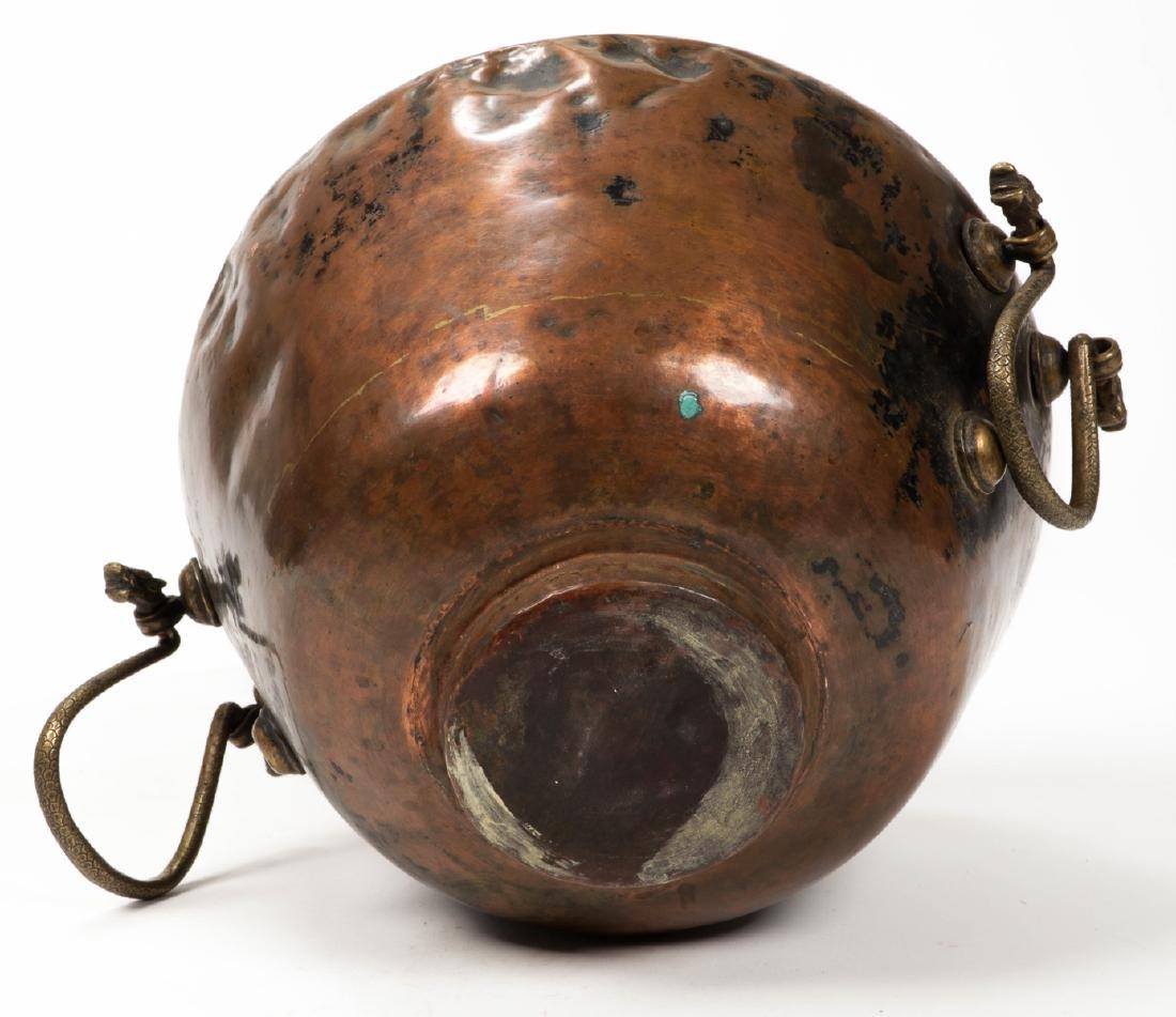 Antique Central Asian/Middle Eastern Copper Pot w. - 6