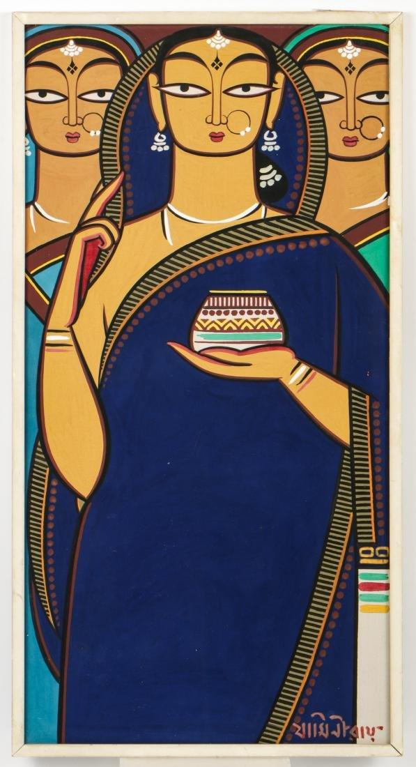 Jamini Roy (1887-1972) Painting of Three Women - 2