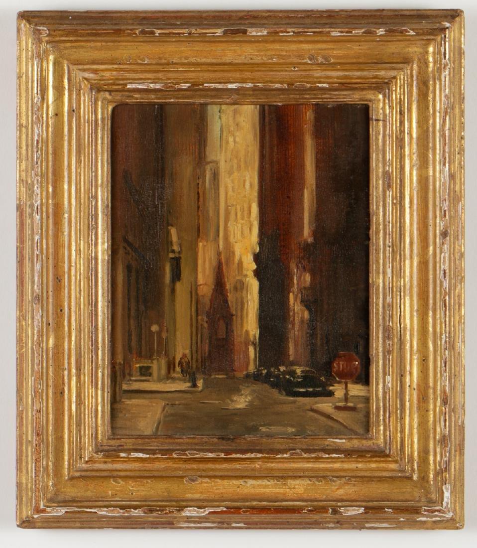 """Sheldon (Shelly) Fink (b. 1925) """"Wall Street"""""""