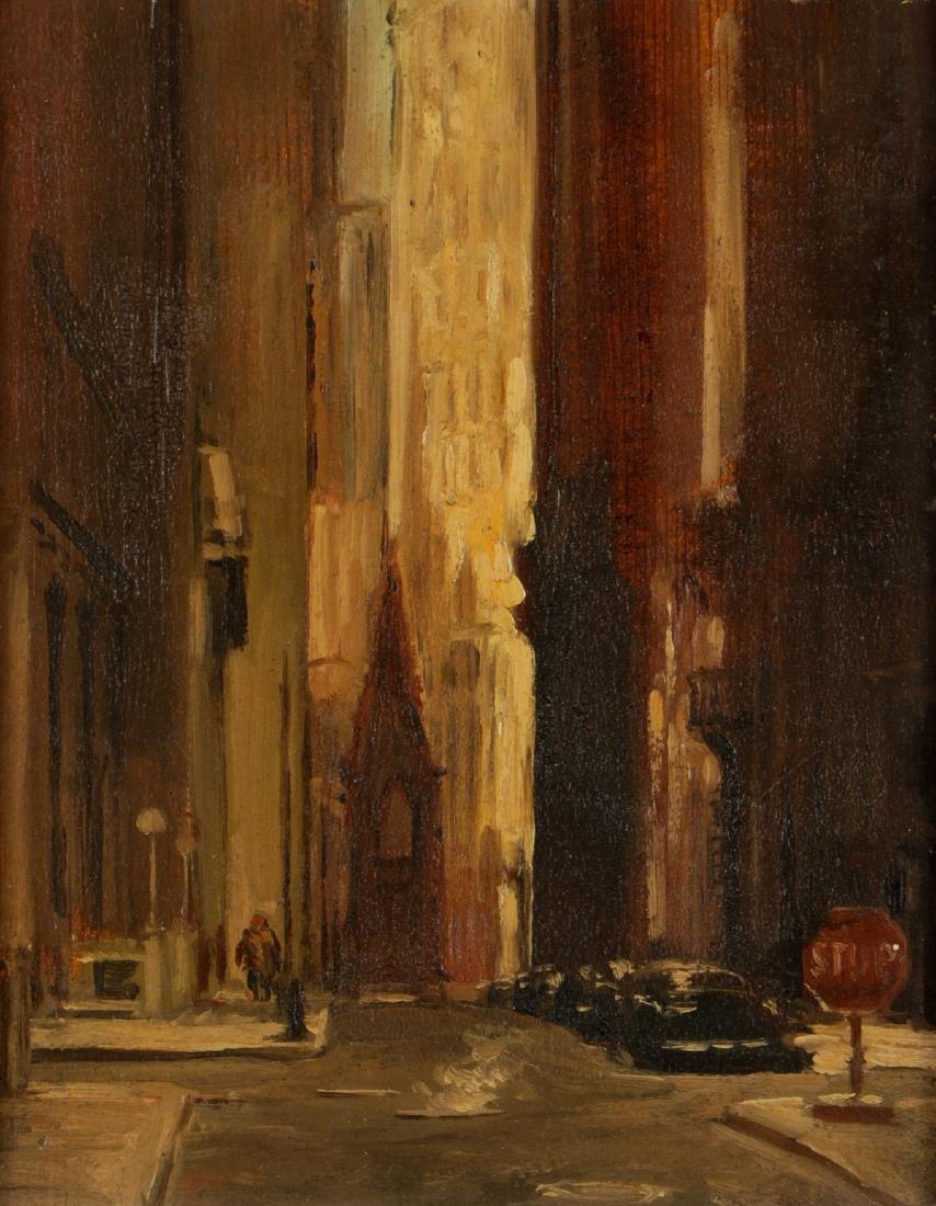 """Sheldon (Shelly) Fink (b. 1925) """"Wall Street"""" - 2"""