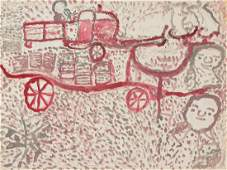 "Ezekiel Gibbs (1889-1992) ""Cotton Hauling on the farm"""