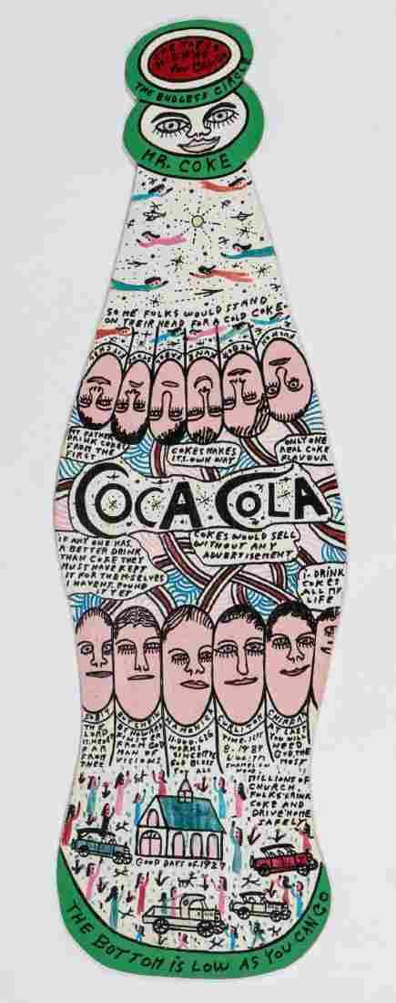Howard Finster (1916-2001) Coca Cola, #11,636