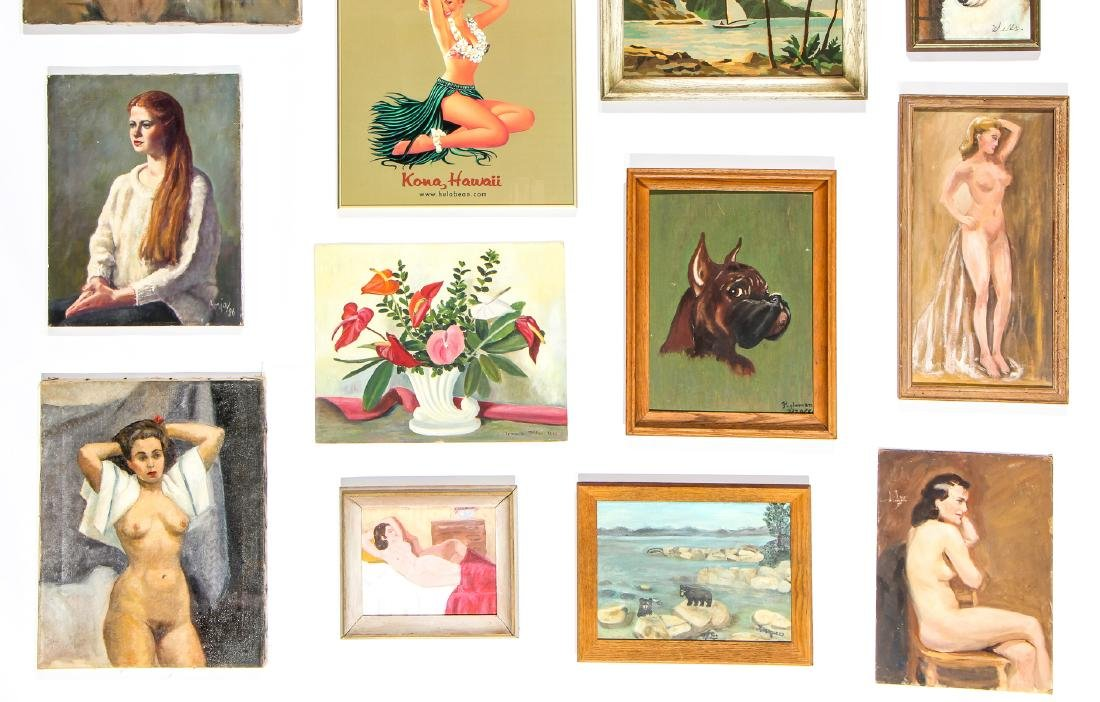 Group of Thrift Store Paintings - 3