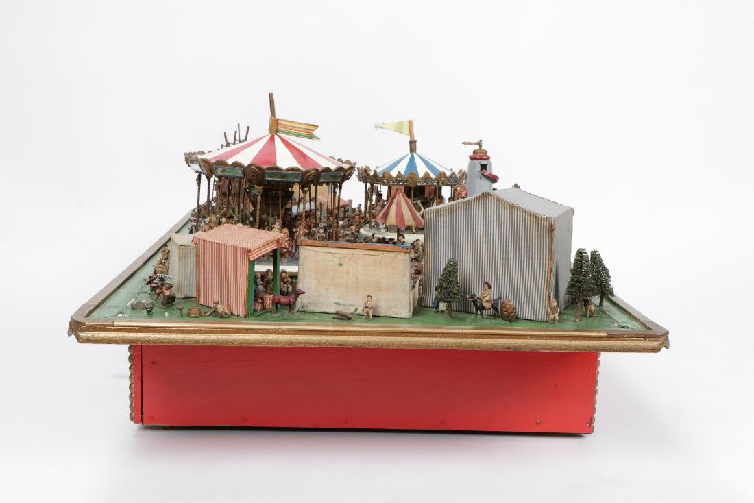 Incredible Folk Art Scale Model of a Country Fair - 10