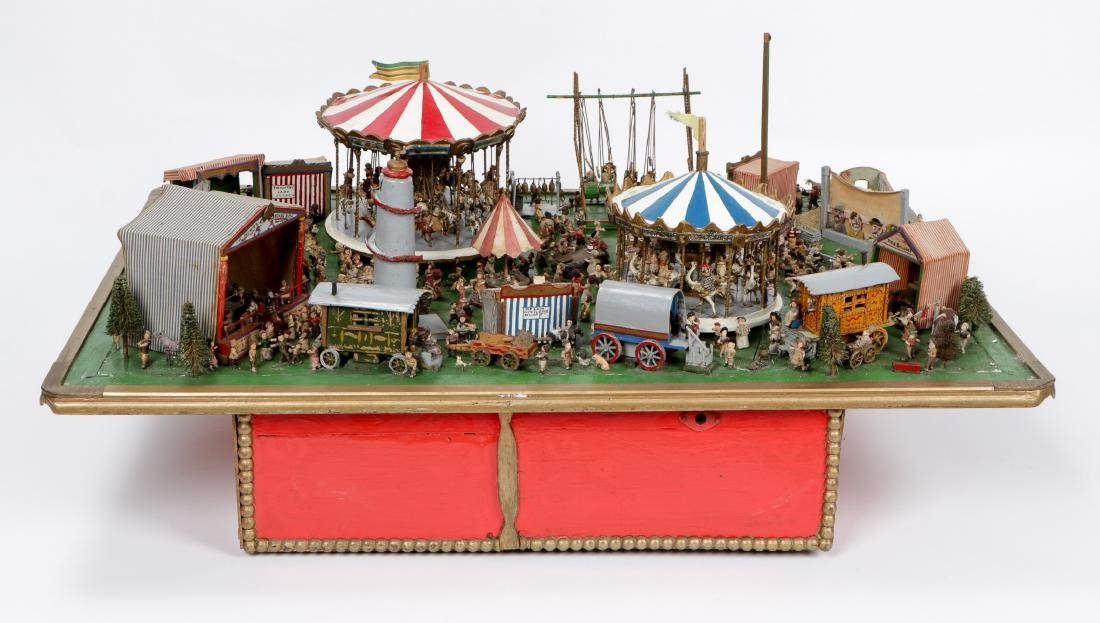 Incredible Folk Art Scale Model of a Country Fair