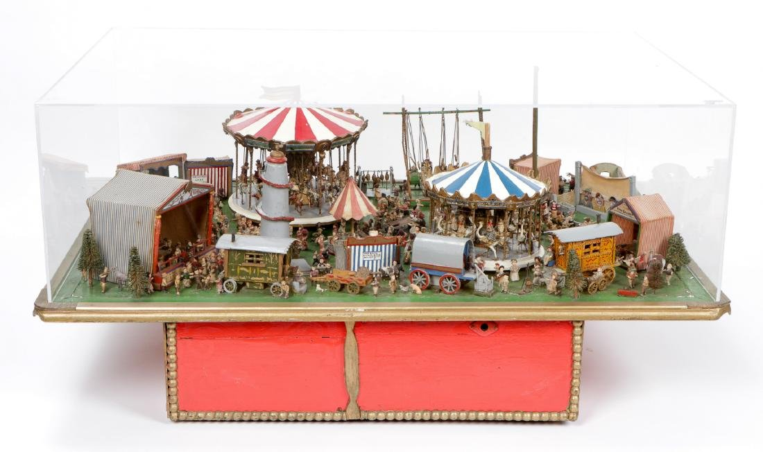 Incredible Folk Art Scale Model of a Country Fair - 2