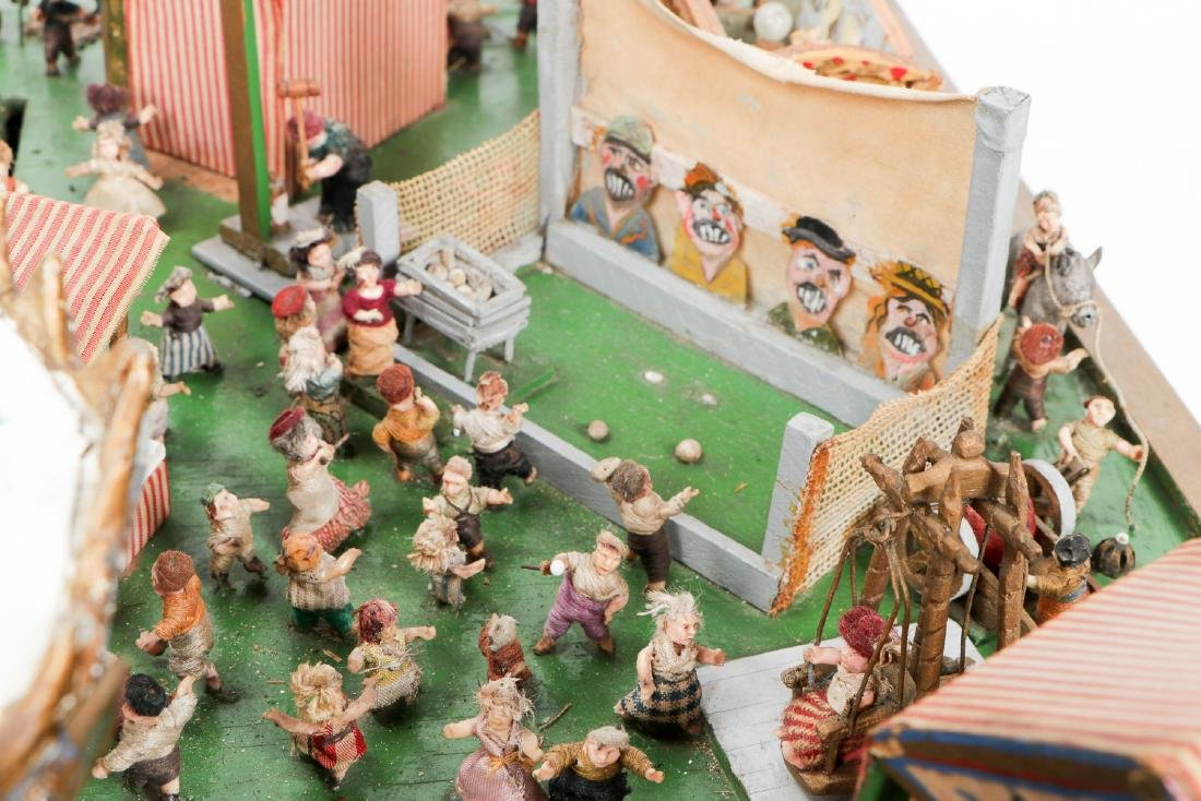 Incredible Folk Art Scale Model of a Country Fair - 3