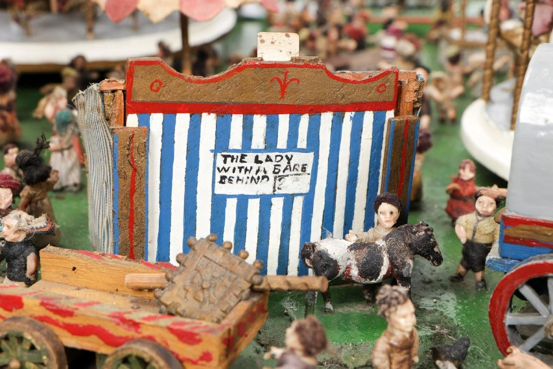 Incredible Folk Art Scale Model of a Country Fair - 5