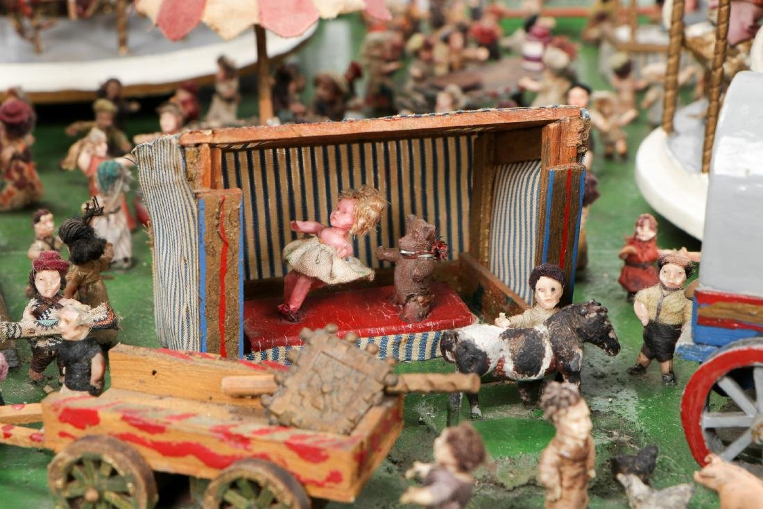 Incredible Folk Art Scale Model of a Country Fair - 6