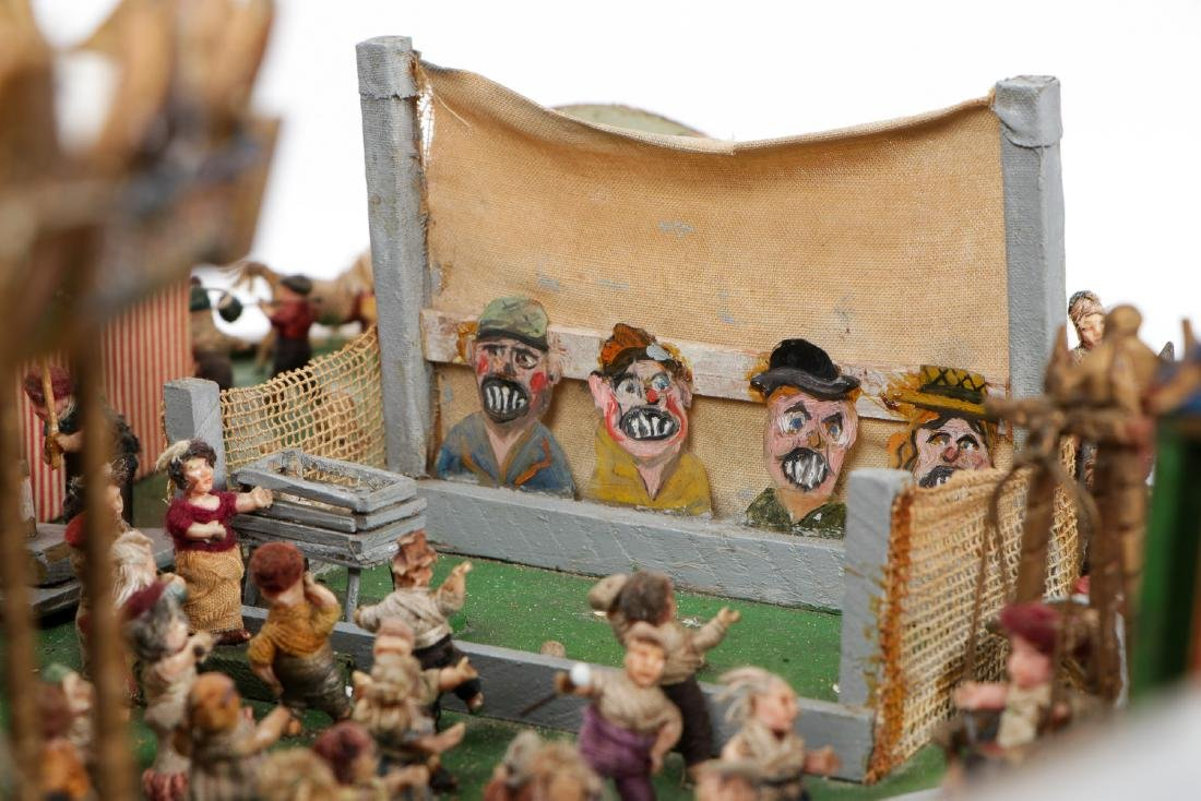 Incredible Folk Art Scale Model of a Country Fair - 7