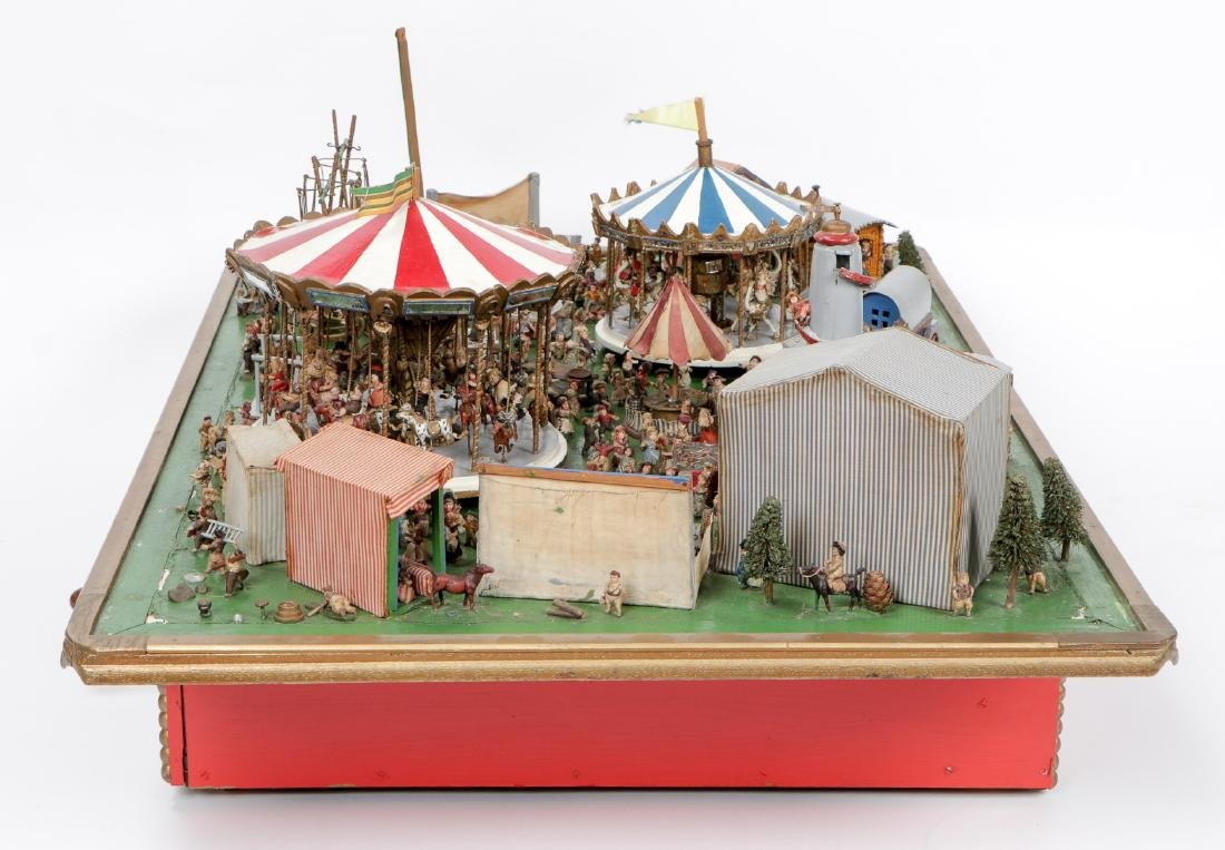 Incredible Folk Art Scale Model of a Country Fair - 8