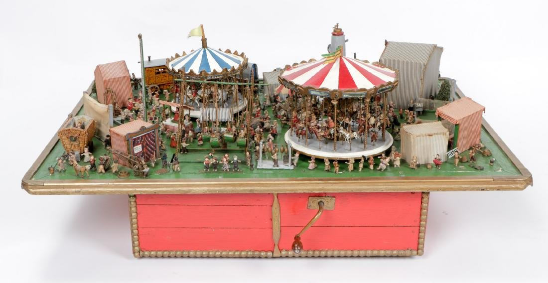 Incredible Folk Art Scale Model of a Country Fair - 9