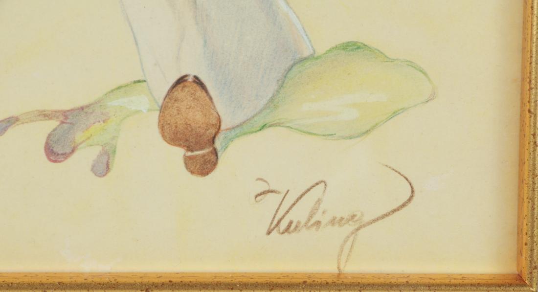 American Artist Watercolor Illustration on Paper - 3