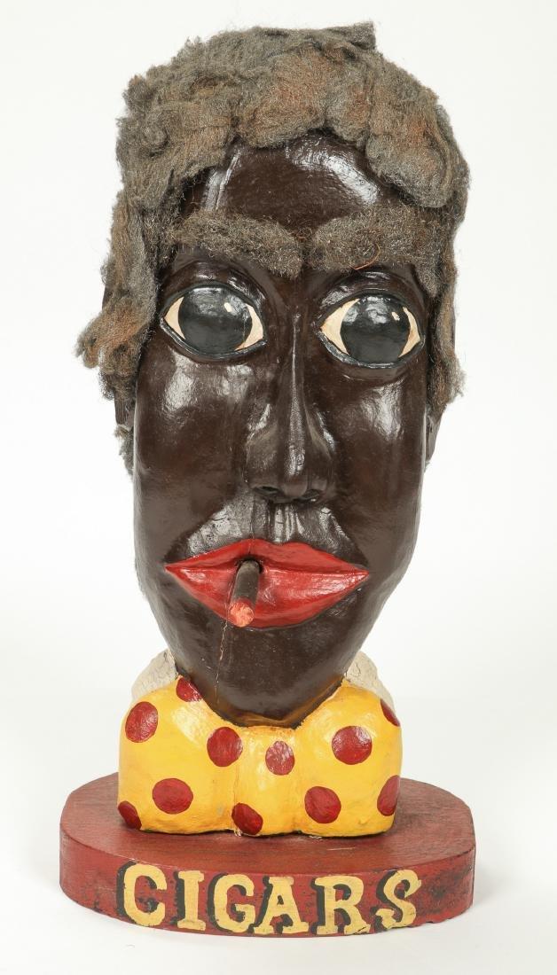 Bill & Phyllis Duffy Folk Art Figure/Cigar Trade Sign